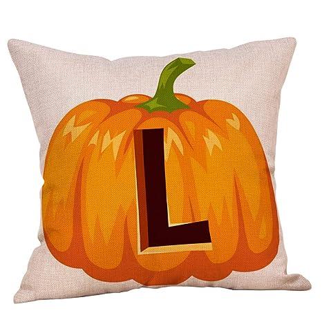 YWLINK Funda De CojíN Halloween Letra De ImpresióN De ...