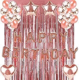 Decoraciones para fiestas de feliz cumpleaños en oro rosa ...