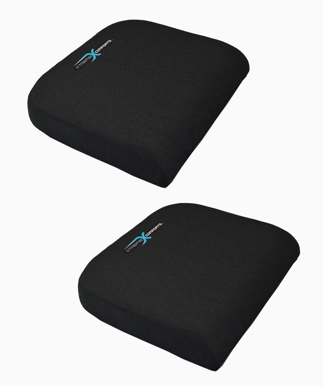 Xtreme Comforts Large Seat Cushion with Carry Handle and Anti Slip Bottom Gives Relief from Back Pain (2 Pack) by Xtreme Comforts