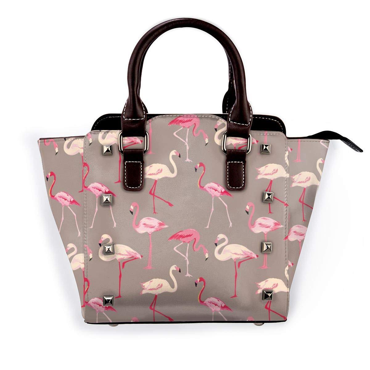 Cobra grammofonmönster kvinnor exklusivt mode utsökt elegant äkta läder nit axelväska Rosa Flamingo