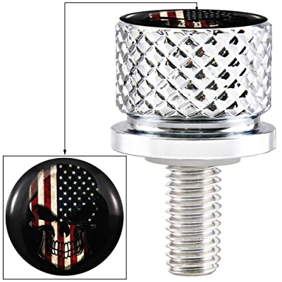 Chrome Billet Aluminum Hard Anodized Seat Bolt Screw for Harley Davidson 1996-2020: Automotive