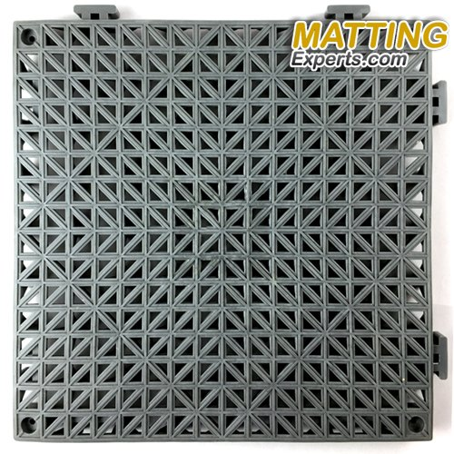 VinTile Modular Interlocking Cushion Floor Tile Mat Non-Slip with Drainage Holes for Pool Shower Locker-Room Sauna Bathroom Deck Patio Garage Wet Area Matting (Pack of 6 Tiles - 11.5'' x 11.5'', Gray) by MattingExperts (Image #2)
