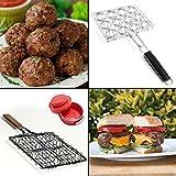 Bundle Stuffed Hamburger Meatball Grilling Baskets Press Set Steven Raichlen Maker Rack