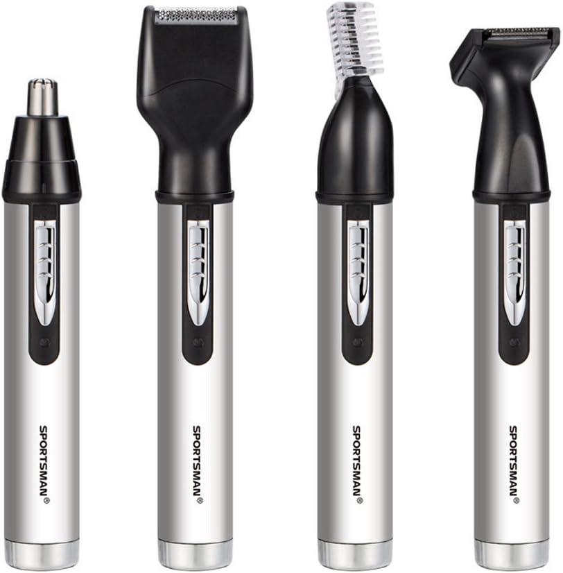 iXpro Recargable 4 en 1 Pelo Eléctrico Clippers Nariz Oído Barba Hair Ceja Trimmer Set para Hombres Profesional Máquina de Afeitar Portátil