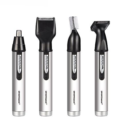iXpro ricaricabile 4 in 1 elettrico tagliacapelli naso orecchio barba  capelli sopracciglio trimmer set per gli a8f5e5ac98ab
