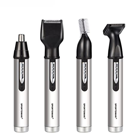 iXpro Recargable 4 en 1 Pelo Eléctrico Clippers Nariz Oído Barba Hair Ceja  Trimmer Set para 6064d45776d4