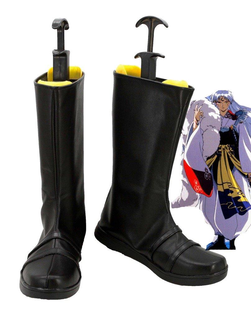 Inuyasha Anime Sesshoumaru Cosplay Shoes Boots Custom Made