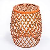 Homebeez Home Garden Accents Wire Round Iron Metal Stripes Stool...