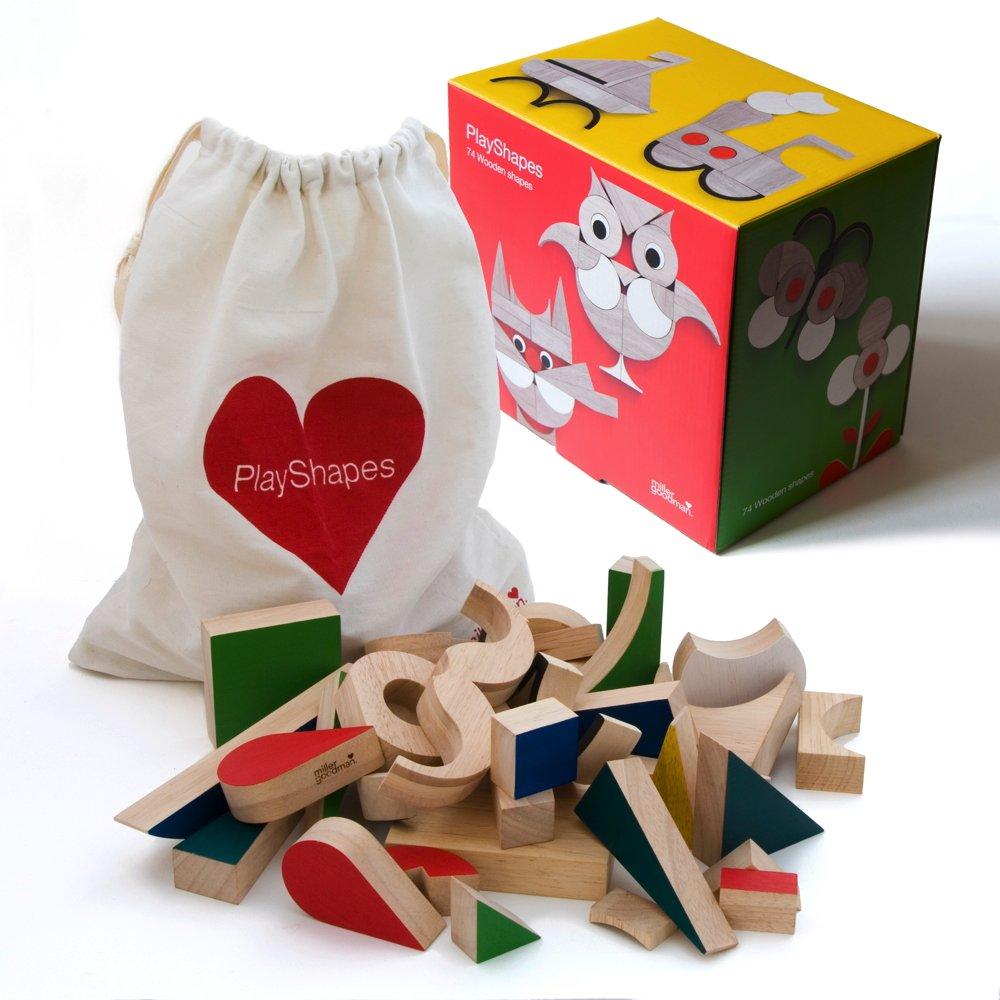 PlayShapes - Holzspielzeug von Miller Goodman B074KFRVR7 Holzpuzzles Qualifizierte Herstellung | Qualifizierte Herstellung