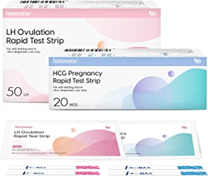 Femometer 50 Ovulation Test Strips and 20 Pregnancy Test Strips Combo kit, Sensitive Fertility Predictor Testing Kits with Accurate Results