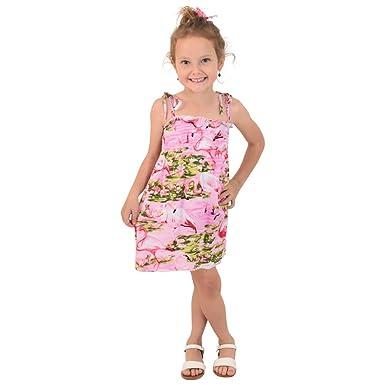 110c4d96c0 Amazon.com  ISLAND STYLE CLOTHING Girls Tube Dress Flamingo Prints Summer  Party  Clothing