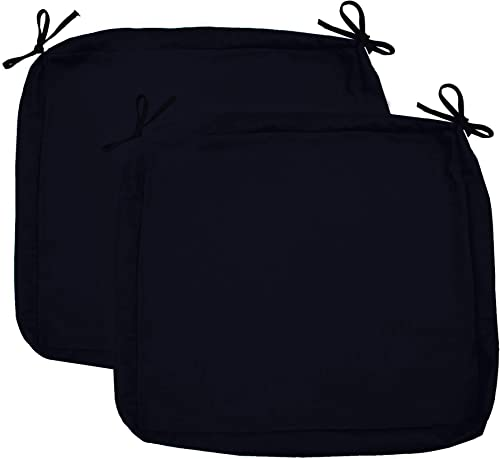 Sigma Outdoor Seat Cushion Cover Water Repellent Patio Deep Seat Chair Cushion Cover-Only Cover Black 25 x25 x5 2 Covers