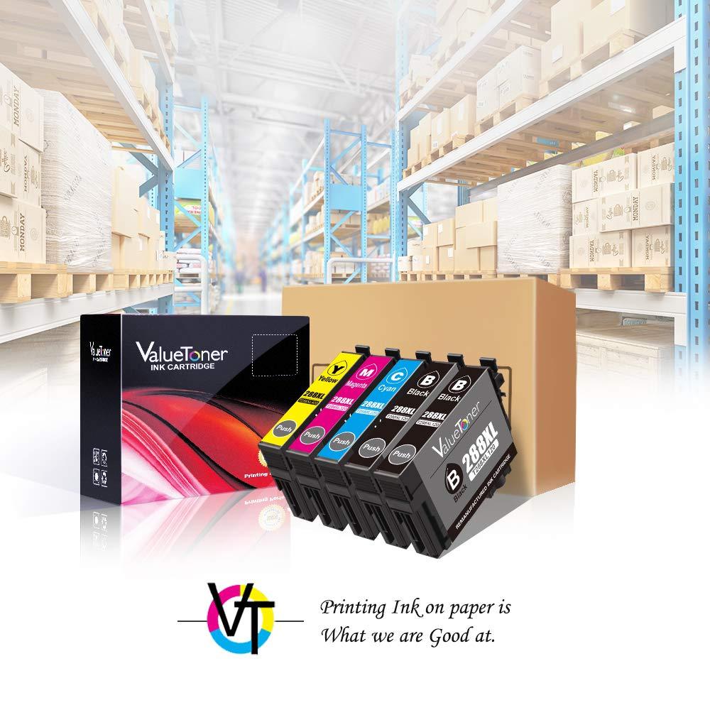 Valuetoner T288XL Replacement for Epson 288XL 288 XL Remanufactured Ink Cartridge for Epson Expression XP-340 XP-440 XP-330 XP-430 XP-434 XP-446 Printer(2 Black, 1 Cyan, 1 Magenta, 1 Yellow) by Valuetoner (Image #4)