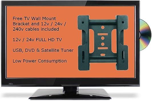 vingt-Deux Pulgadas Slim Full HD 12 V/24 V TV Full HD con DVD, TNT ...