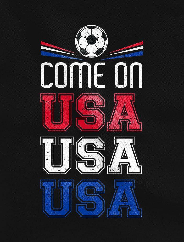 Come On USA American Soccer Ball Flag Soccer Fans Singlet Tstars