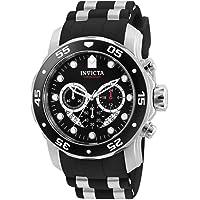 Invicta 6977 Pro Diver Collection Reloj cronógrafo negro de poliuretano para hombre