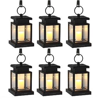 Loveusexy Bright Outdoor Vintage Hängende LED Solar Laterne Kerze Lampe Scheinwerfer für Garten, Balkon, Auffahrt, Pathway, Yard, Rasen, Umbrella