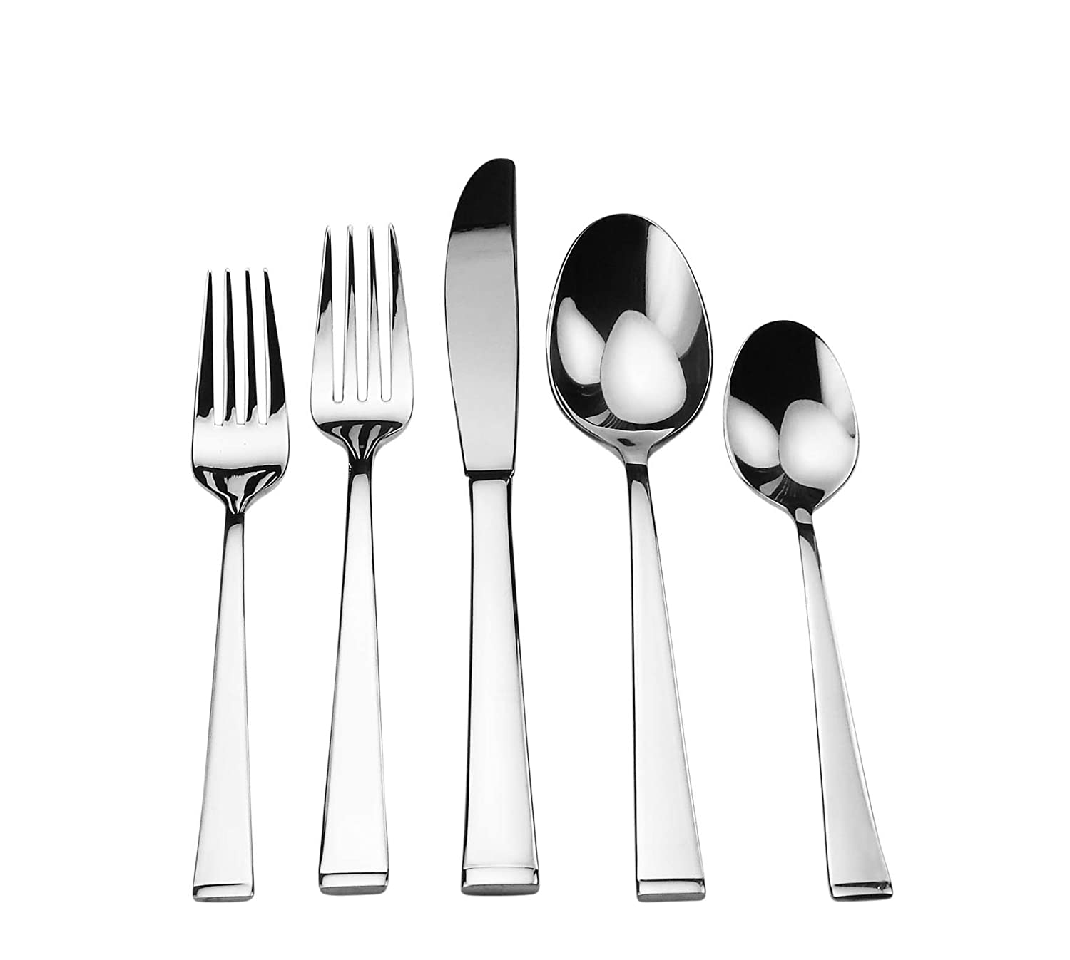 Splendide Atom 18/10 Stainless Steel flatware 20 Piece Set with Service for 4