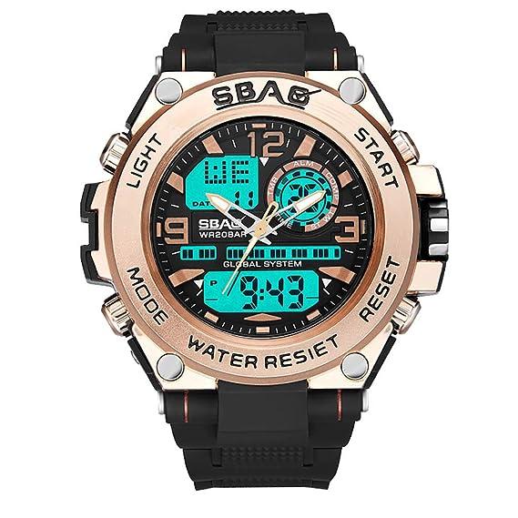 c33fe8950 POJIETT Digital Reloj Deportivo, Militar al Aire Libre Reloj para Hombres  Resistente Al Agua LED Luz de Fondo Relojes Electrónicos 30m Impermeable  Reloj ...