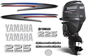 AMR Racing Outboard Engine Graphics Kit Sticker Decal Compatible with Yamaha 225 - HPDI