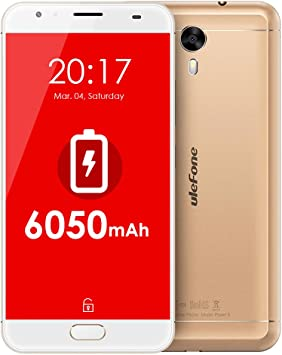 Ulefone Power 2 Smartphone Libre 4G LTE 6050mAh Batería Android ...