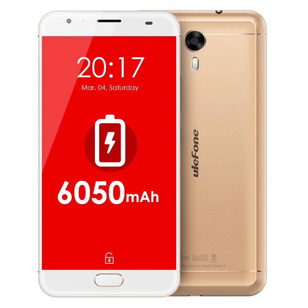 Ulefone Power 2 Smartphone Libre 4G LTE 6050mAh Batería ...
