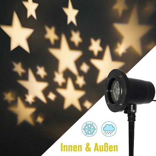 smithroad LED Proyección lámpara luz blanca cálida estrellas ...