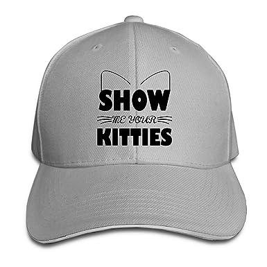 Women s Men s Show Me Your Kitties Adult Adjustable Snapback Hats Trucker  Cap 444971368