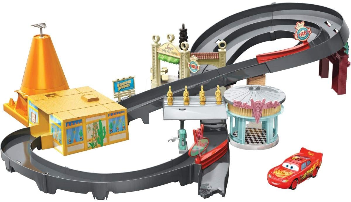 Amazon Com Disney Pixar Cars Race Around Radiator Springs Playset
