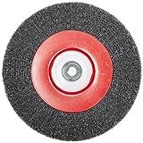 Norton Crimped Medium Face Wire Wheel Brush, Carbon Bristles, 0.014'' Wire Size, 1/2''-2'' Arbor, 8'' Diameter (Pack of 1)