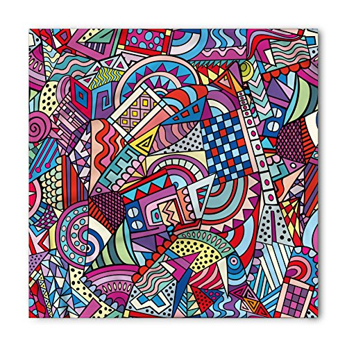 (Ambesonne Psychedelic Bandana, Funky Modern Artistic, Unisex Head and Neck Tie)