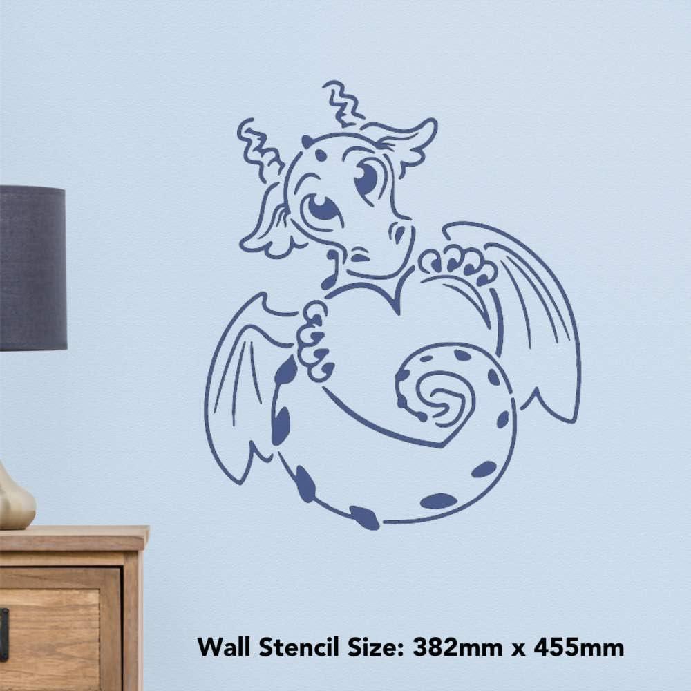 WS00021721 Grand A2 Amour Dragon Pochoir Mural