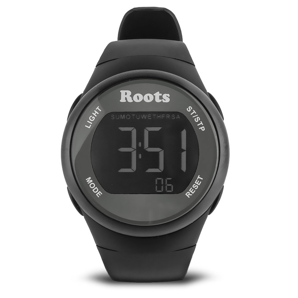 By-Roots Sports Watch Women, Cayley Digital Display Waterproof Sports Watches, Black