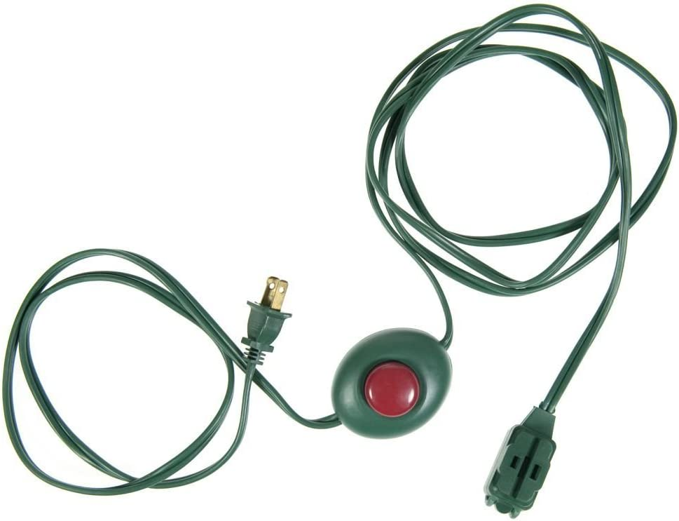 Cord Hands Free Touch Button Pedal Power Plug EE9LFS by Joyful Traditions 3 Outlet Foot Switch 9 ft