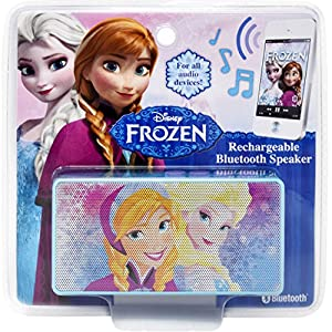 Disney Frozen Bluetooth Speaker – Wireless Rechargeable Portable Speaker with 3.5mm Headphone Port Device, Stream Music…