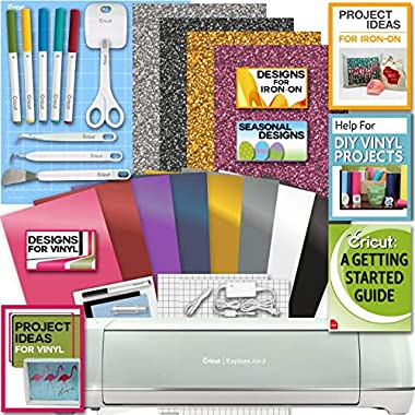 Cricut Explore Air 2 Machine Bundle Iron On Vinyl Pack Tools Pen Design Beginner Guide