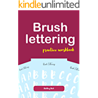 Brush lettering practice workbook