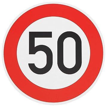 Original Verkehrszeichen 50 Straßenschild Geburtstagsschild