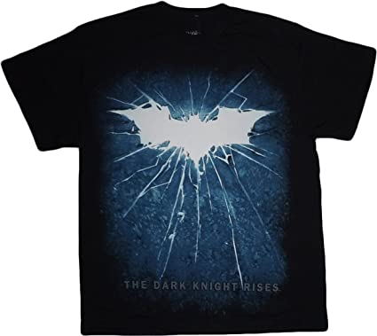 batman the dark knight rises movie shattered bat symbol t shirt