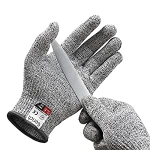 Gorich Cut Resistant Gloves - High Performance Level 5 Protection,Food Grade,Safety Kitchten Gloves for Cutting,Oyster Shucking,Fish Fillet Processing, Yard Work Doing ,Labor Protecting (Medium)