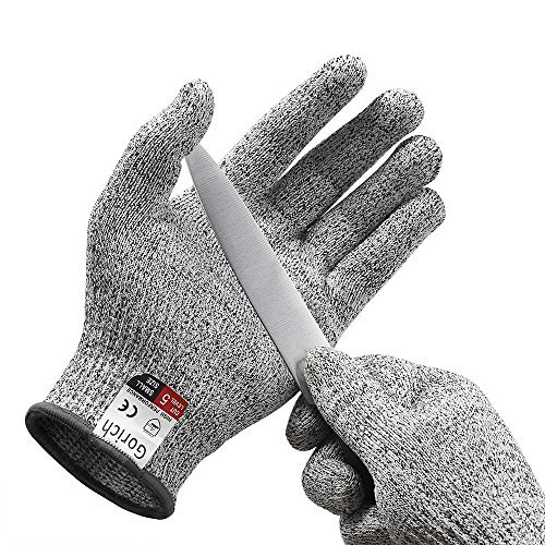 Gorich Cut Resistant Gloves - High Performance Level 5 Protection,Food Grade,Safety Kitchten Gloves for Cutting,Oyster Shucking,Fish Fillet Processing, Yard Work Doing ,Labor Protecting (Small)