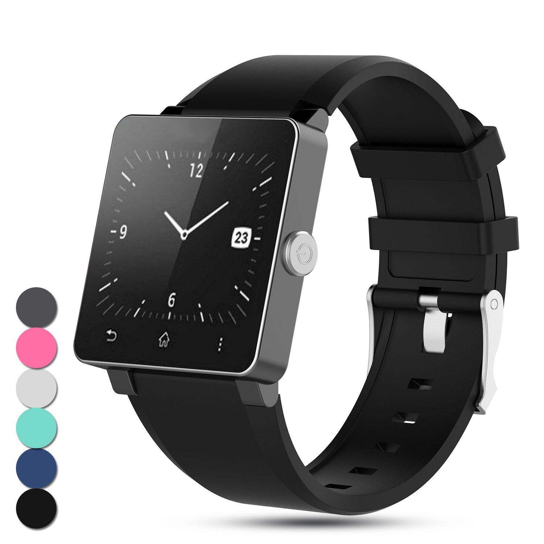 Feskio para Sony Smartwatch 2 SW2 Correa, Reemplazo Ajustable Banda de Silicona Deporte Accesorio Pulsera para Sony Universal SmartWatch 2 SW2