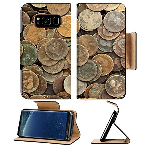 Liili Premium Samsung Galaxy S8 Aluminum Snap Case coin peseta real old spain republic 1937 currency and cents centimos IMAGE ID 9533407