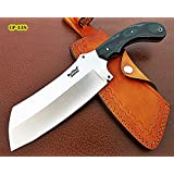 RK-CP-338, Custom Handmade Hi Carbon Steel Chopper Knife – Solid Micarta Handle