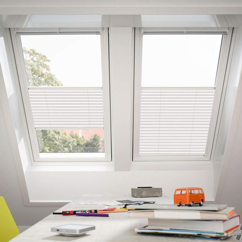 Orignal VELUX Plissee   Faltstore FHL Y85 1016S   Bedienart   Manuell   Farbe   Uni Weiß   Fenstergröße   Y85   Fenstertypen   VU, VL, VKU _18068