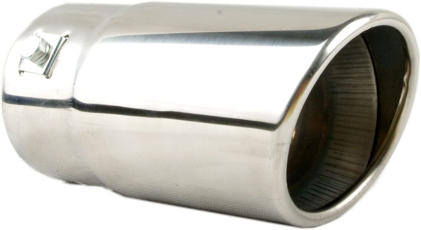 Tritrust Car Muffler Tip Stainless Steel to give Chrome Effect To Fit 1.25 to 2.5 inch Exhaust Pipe Diameter Installation Clamps Included