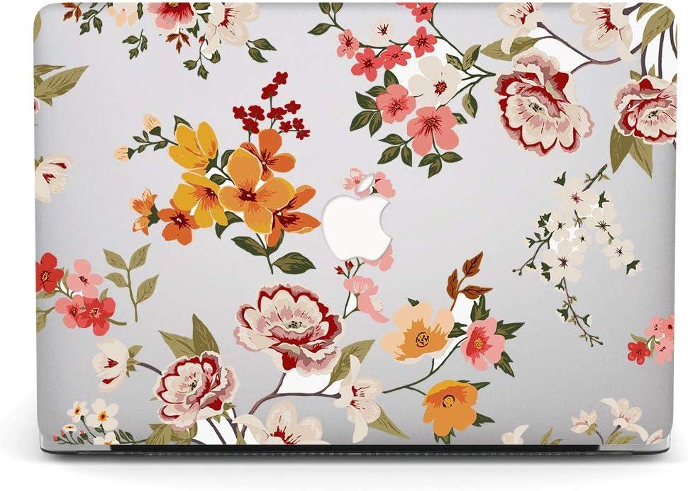 AJYX MacBook Air 13 Zoll H/ülle 2017 2016 2015 2014 2013 2012 2011 2010 Release A1369 A1466 Kunststoffschutzh/ülle Mit Mustern Laptop Hardcover F/ür Alte Version MacBook Air 13 Rote Blume