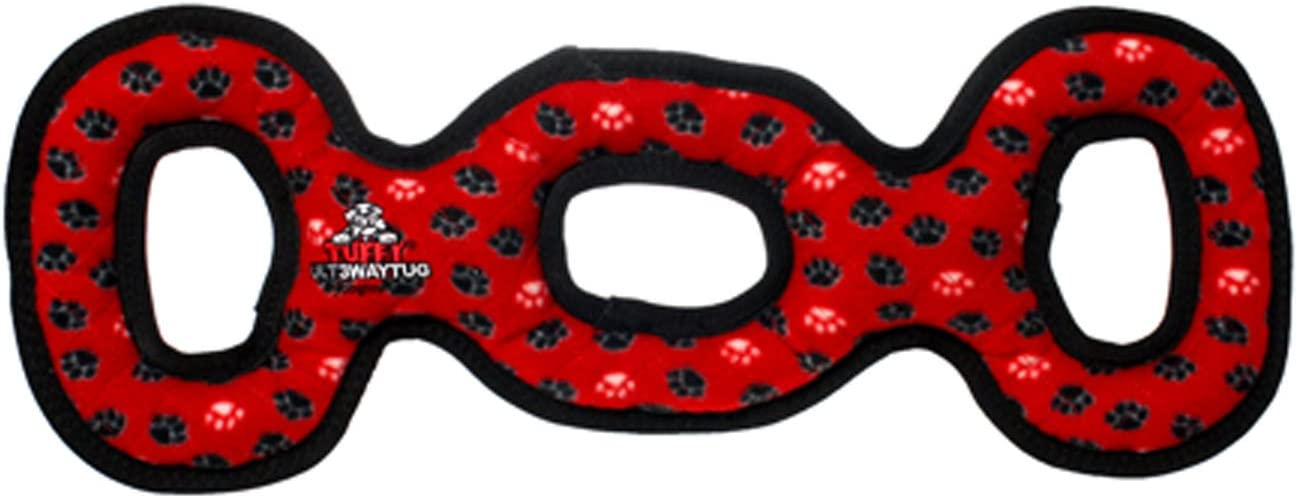 TUFFY - World's Tuffest Soft Dog Toy -Ultimate 3Way Tug -Squeakers-Multiple Layers. Made Durable, Strong & Tough. Interactive Play (Tug, Toss & Fetch). Machine Washable & Floats