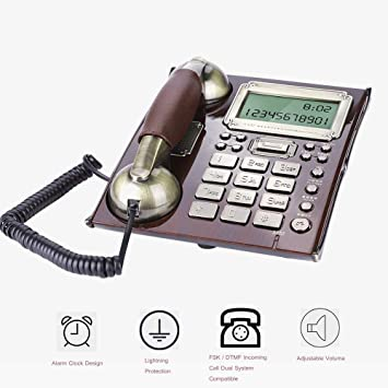 fosa Retro Vintage Telephone Phones Classic Desk FSK//DTMF Landline Phone with Real Time /& Caller ID Display for Office Home Living Room Decor Wonderful Gift /… European Antique Phone