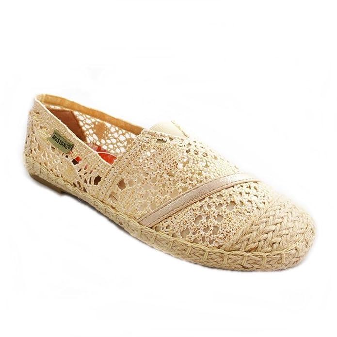 Mustang - Alpargatas de Material Sintético para mujer Dorado dorado: Amazon.es: Zapatos y complementos